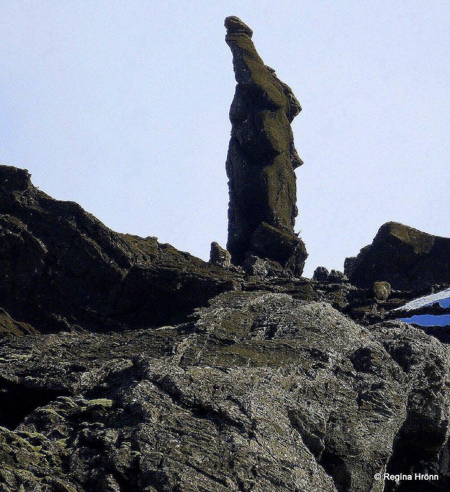 Kerling in Kerlingarskarð Pass in Snæfellsnes in West-Iceland