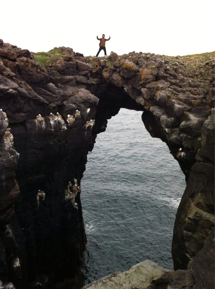 스나이펠스네스에는 독특한 형상의 해안 바위들이 많이 있습니다.