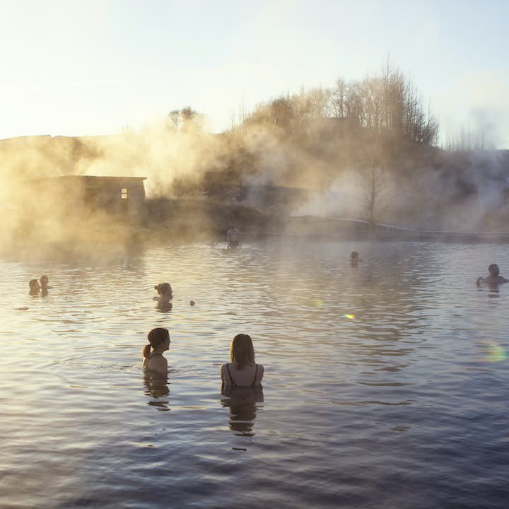 The Secret Lagoon is much quieter and lesser known than other popular pools in Iceland.