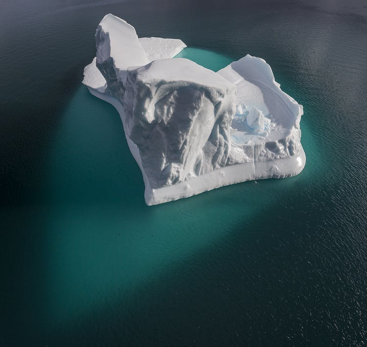 Icebergs of all shape and size are a common sight around the Greenlandic settlement, Kulusuk.