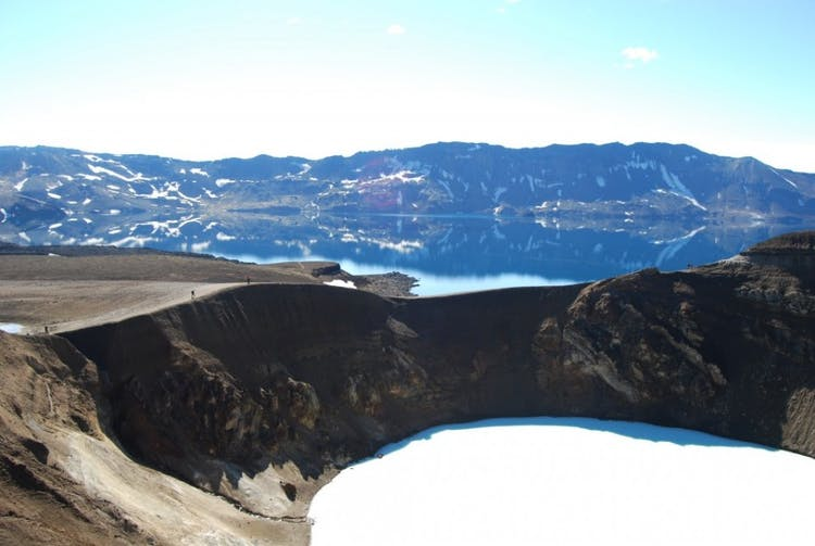 The Askja volcanic area bears incredible natural beauty.