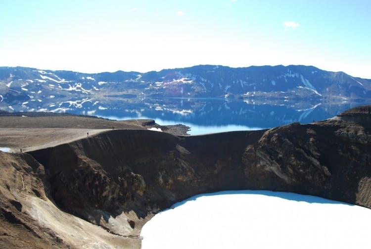 The Askja volcanic area bears incredible natural beauty.