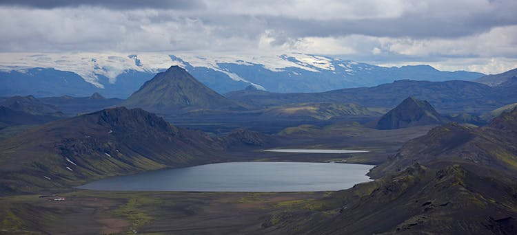 Hiking in the Icelandic Central Highlands is sure to provide many staggering panoramic views.