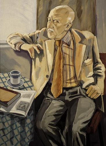 Portrait of Halldor Laxness by Einar Hakonarson 1984