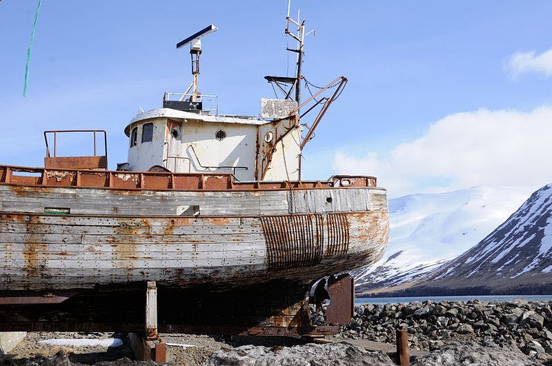An Icelandic fishing vessel.