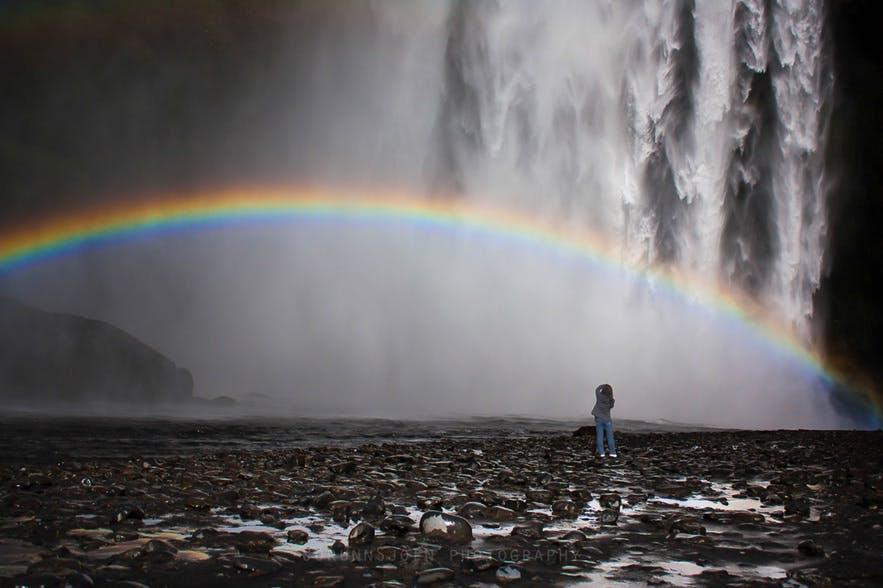 Skógafoss 冰島實景