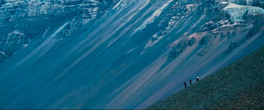 白日夢冒險王中的雪山