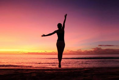 Yoga on the Black Sand Beach   South Iceland