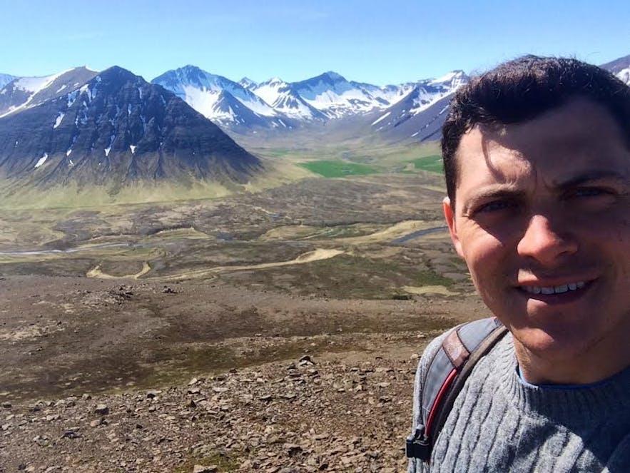 Nomadic Matt travelling in Iceland