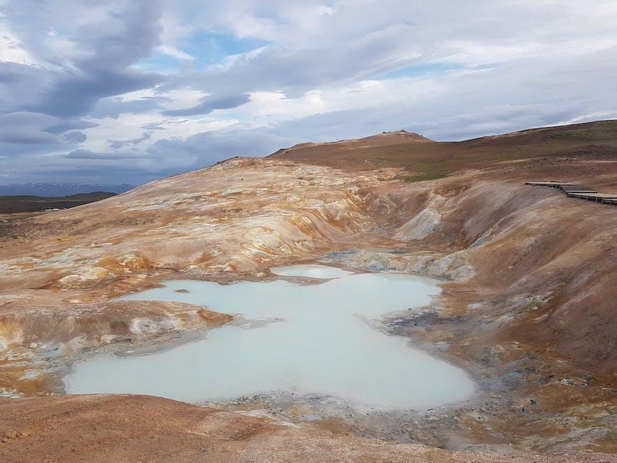 Hverir, północ Islandii