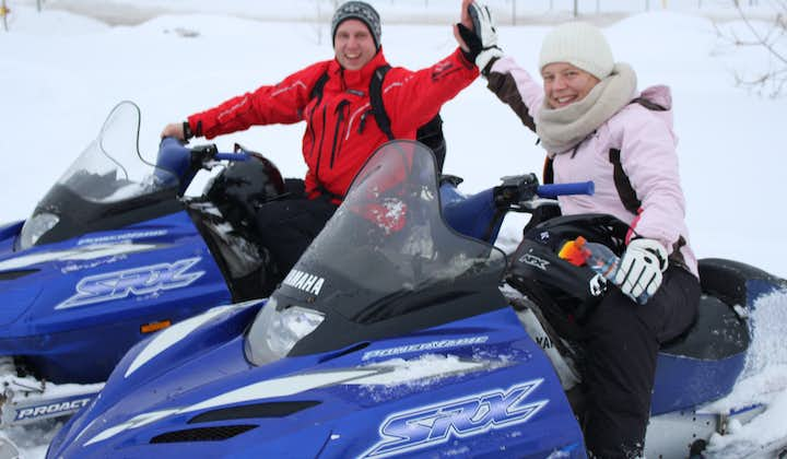Your adrenaline will be pumping throughout your winter snowmobile tour from Akureyri.