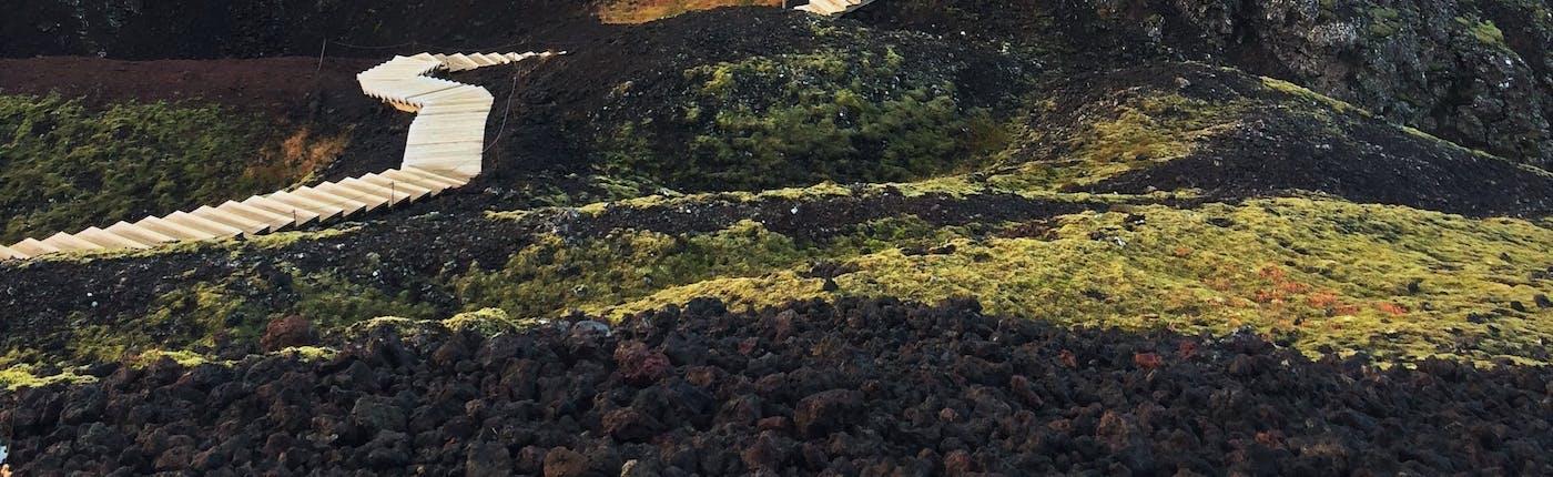Der Vulkan Grabrok in West-Island