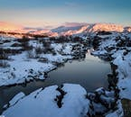 Þingvellir National Park looking stunning in the middle of winter.