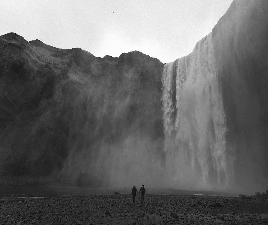 冰島南部瀑布婚紗相