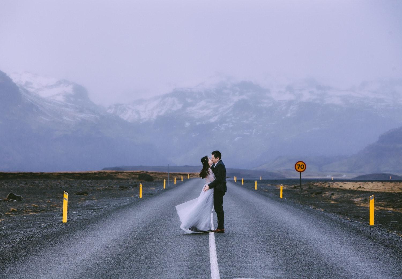 冰島公路婚禮