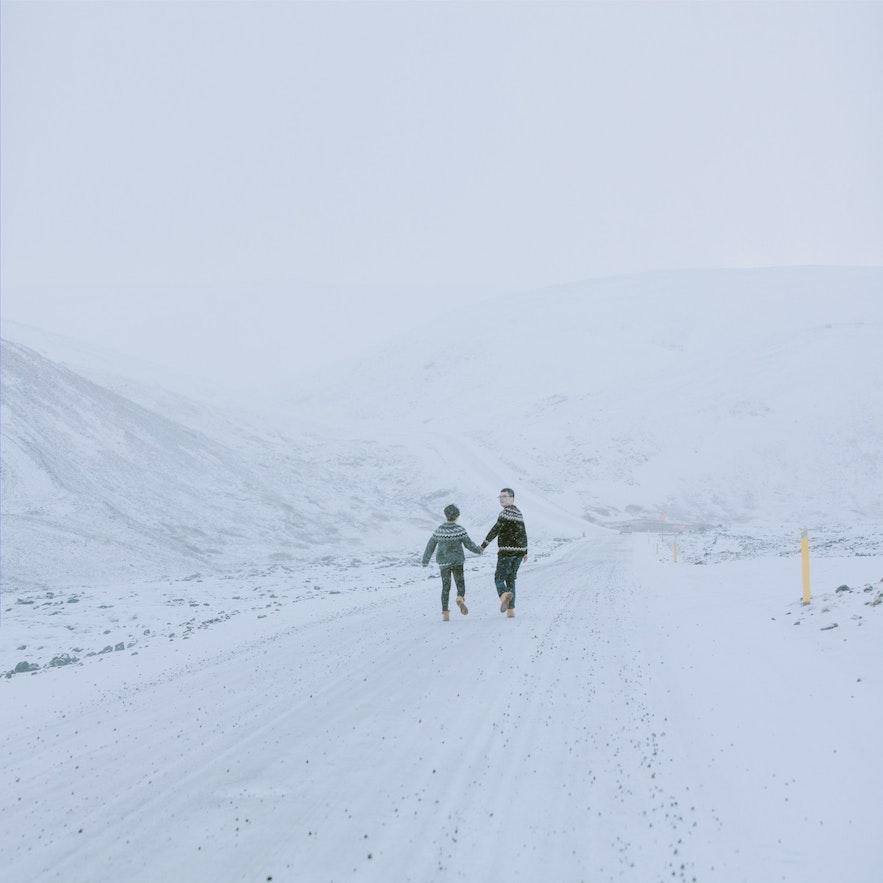 冰島冬季雪景結婚相