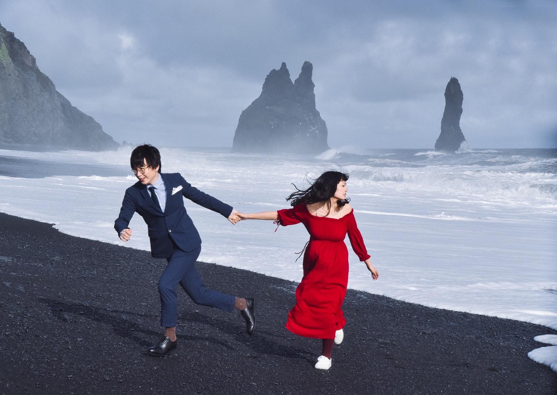 冰島黑沙灘 結婚相