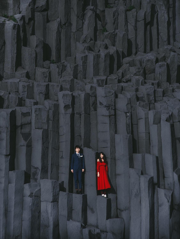 冰島 玄武岩婚紗
