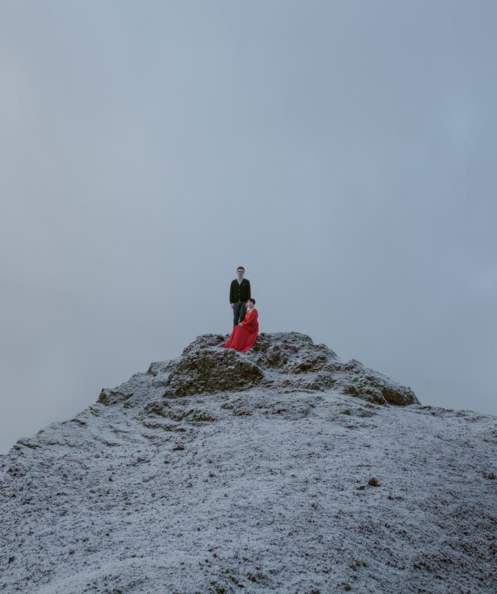 冰島山上婚禮
