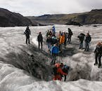 Glacier hiking should only ever be tackled with certified guides given the inherent dangers hidden on the ice cap.