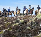 Paseo a caballo por los campos de lava