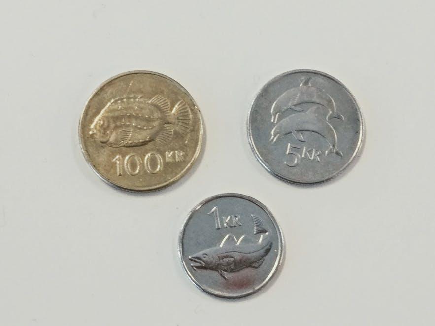 アイスランドのかわいいコイン
