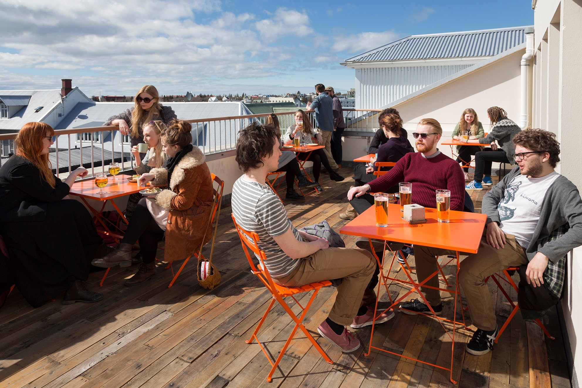 Loft Hostel is best known, perhaps, for its outdoor seating area overlooking the main street.