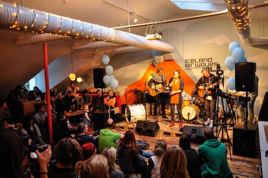 Iceland Airwaves have, in the past, used Loft Hostel as a venue for performers.