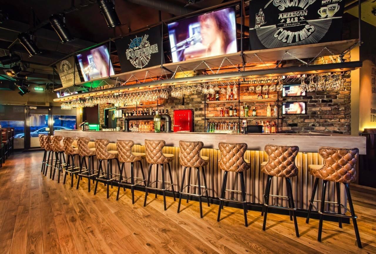 Interior of the American Bar.