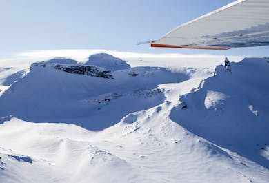 Flightseeing and a Visit into the Glacier