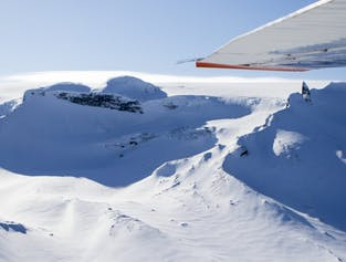 Flightseeing in South Iceland with the Ice Tunnel