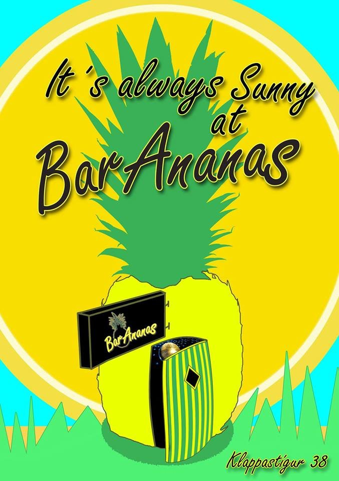 Promotional poster for the bar.