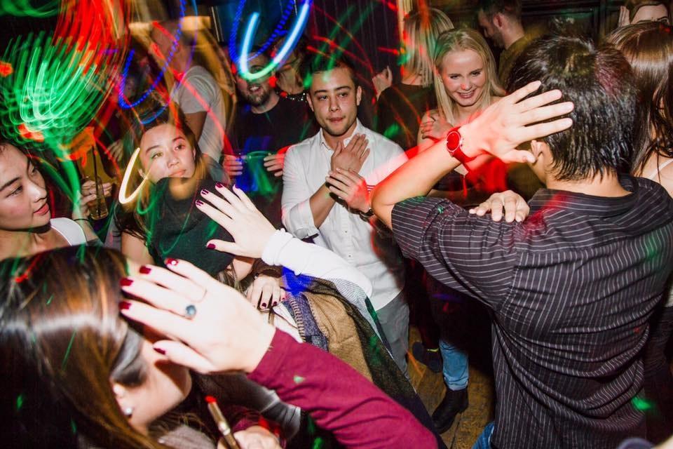 Guests dancing at Kikis.