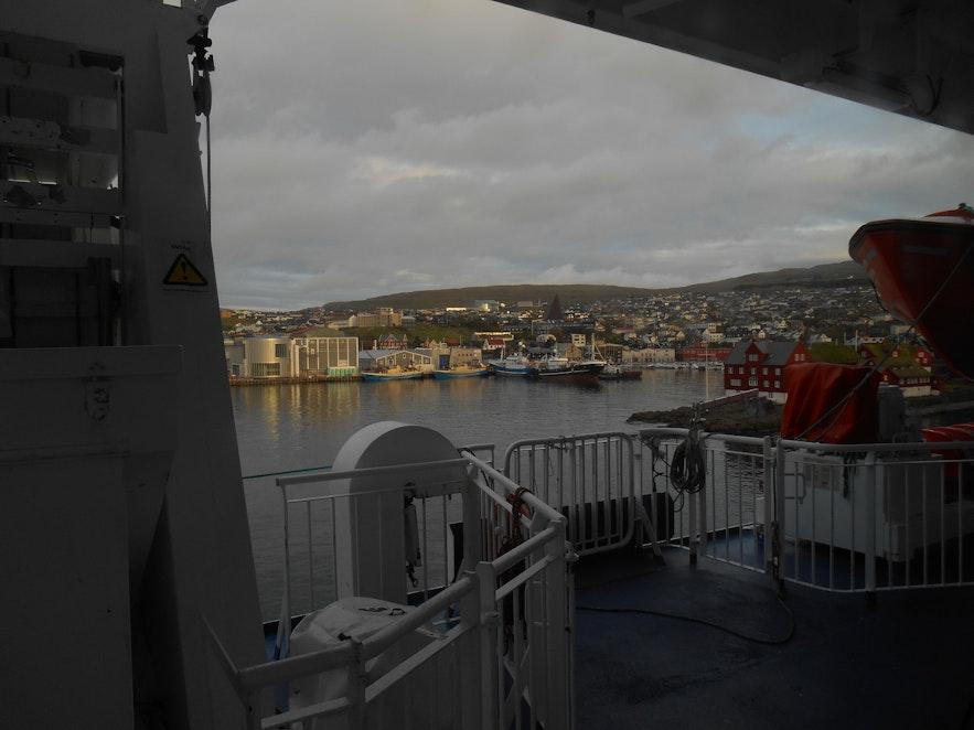 Tórshavn upon arrival