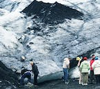 Lined with volcanic ash, the might Sólheimajökull glacier perfectly reflects Iceland's volcanic nature.
