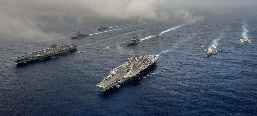 A friendly fleet of British ships is associated the world over with freedom. Picture by Nathan Burke.