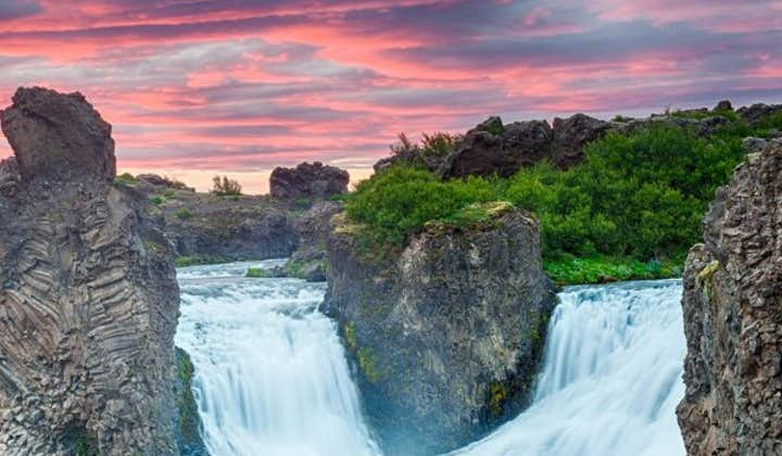 Greens, blues and reds merge in Iceland's colourful summer landscapes.