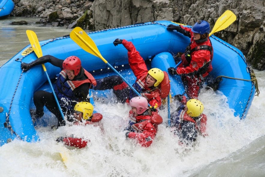 Coming river rafting in Iceland? Prepare to get wet!