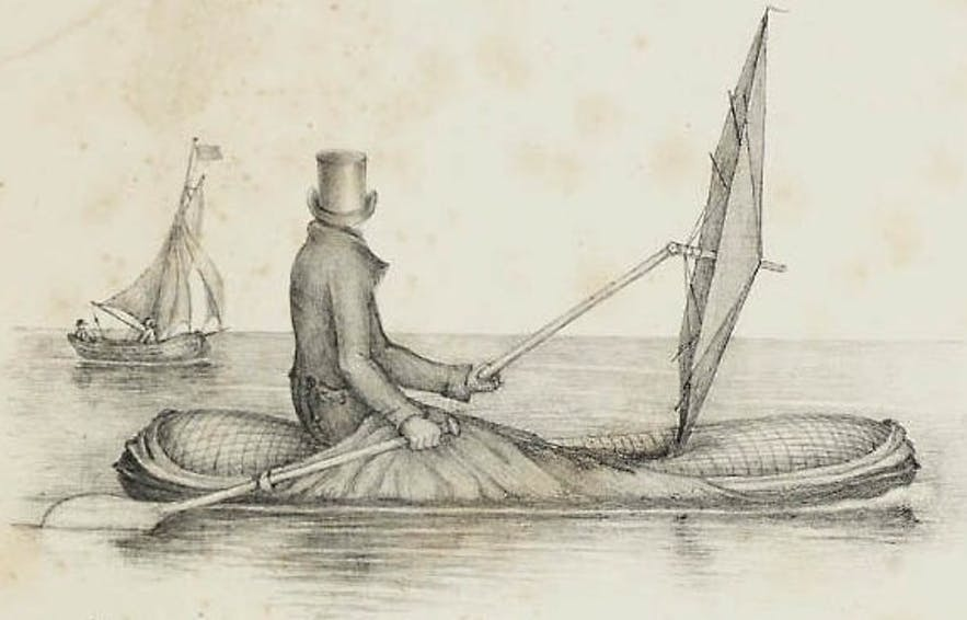 An early illustration of the Peter Halkett design.