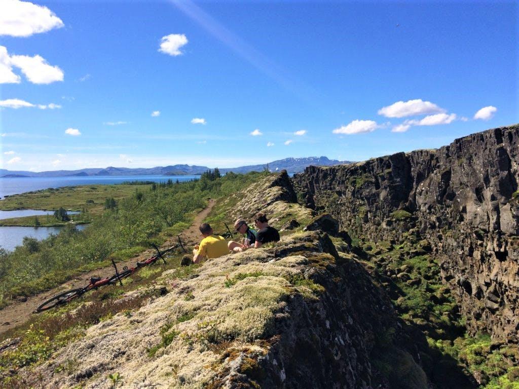 Biking in the National Park of Þingvellir