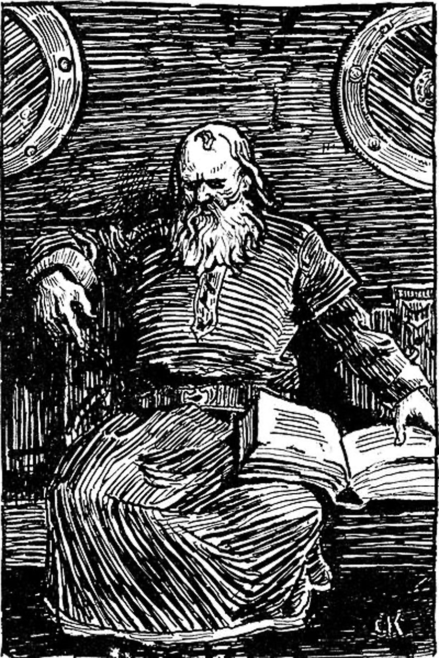 Illustration of Snorri Sturluson for the 1899 edition of Heimskringla