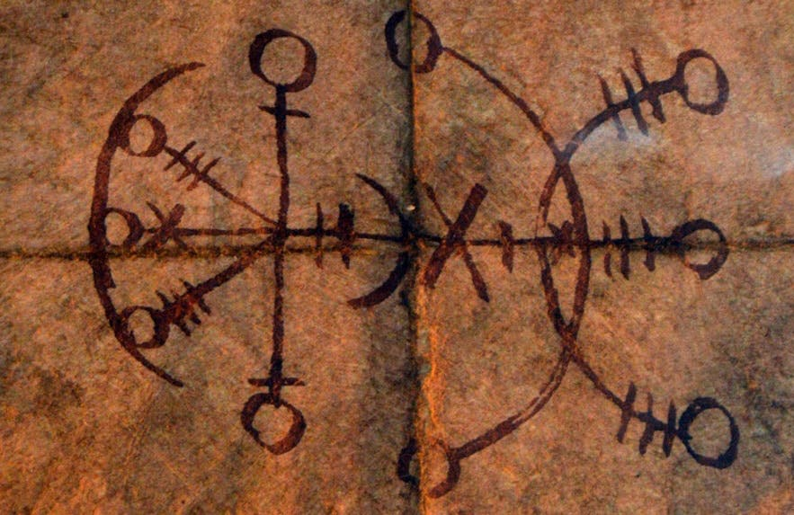 An example of a 'stave' - assembled runes carved for great magic