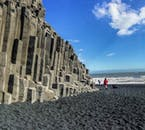 Those at Reynisfjara are warned not to paddle in the water, given the strong undercurrents and large waves.
