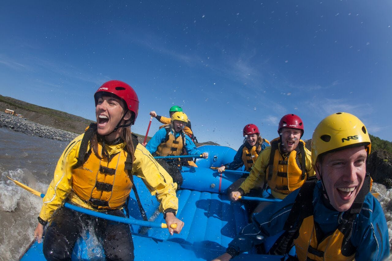 Rafting down Iceland's glacial rivers is an adrenaline-packed activity.