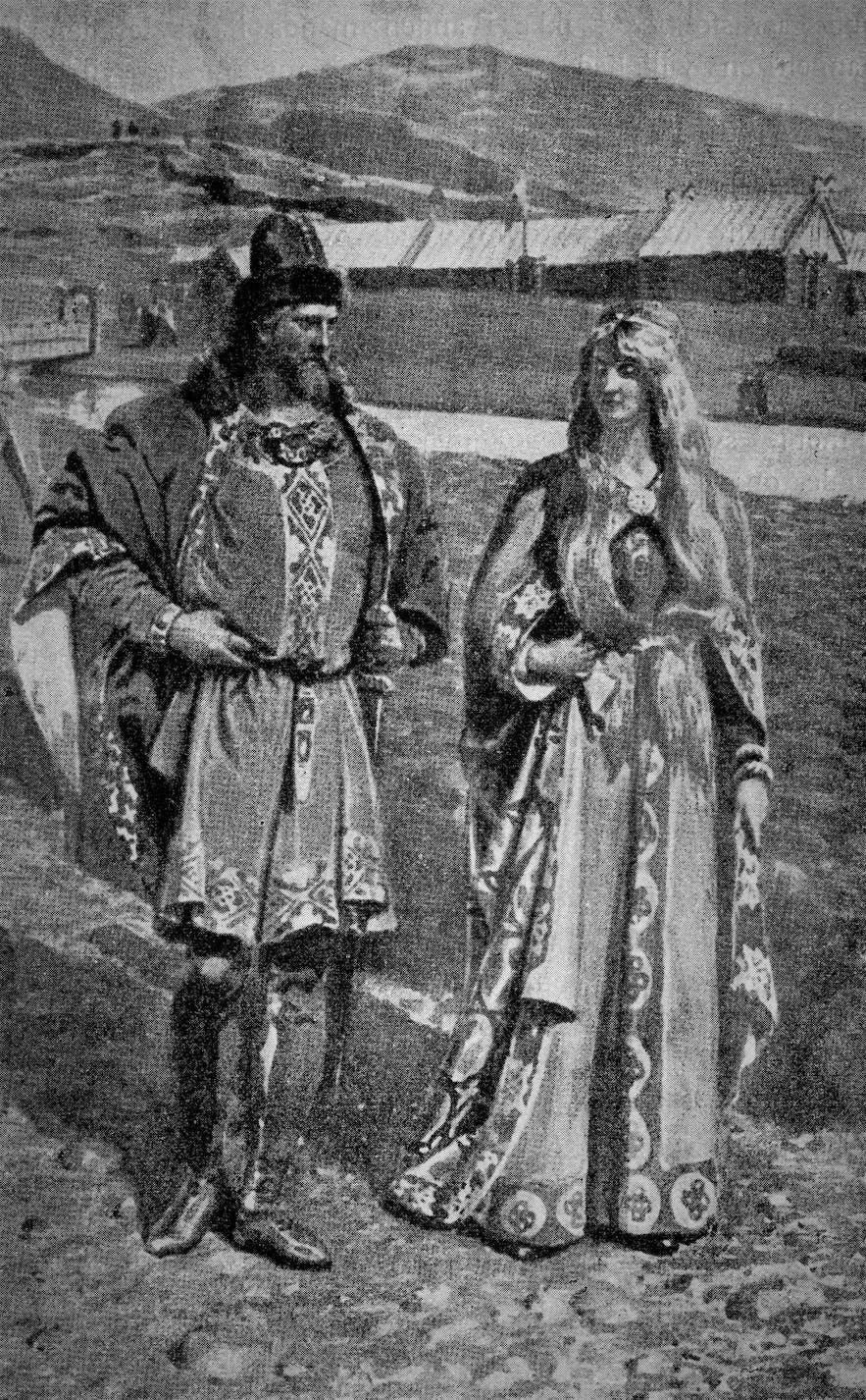 Hallgerður meets Gunnar at Þingvellir
