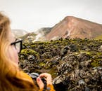 The dramatic lava fields of Laugahraun make for a excellent photo opportunities.