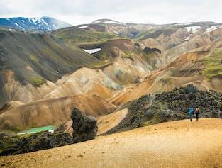 Sortie randonnée au Landmannalaugar et source chaude