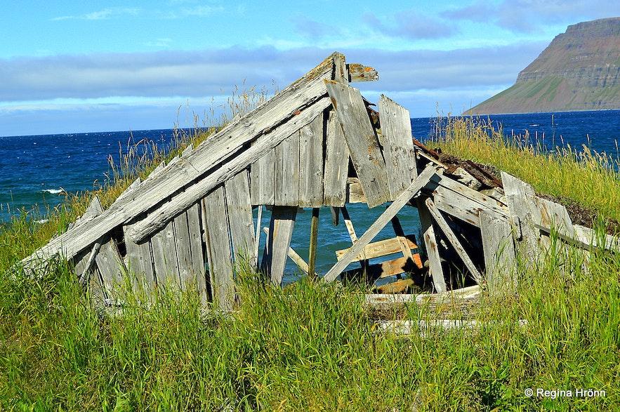 Ingjaldssandur Westfjords of Iceland - a turf shed