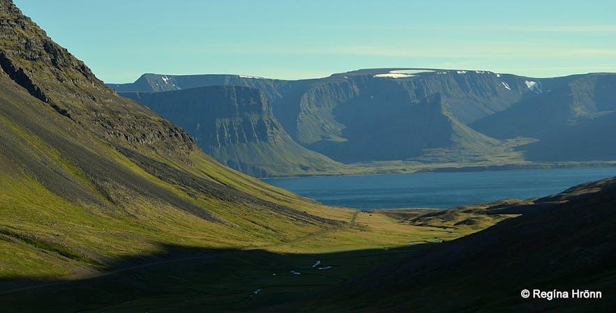 The view of Dýrafjörður returning from Ingjaldssandur