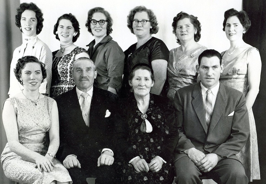 A family photo of my grandmother's family from Ingjaldssandur